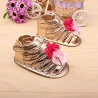 Hot Brand baby shoes girls gold flower sandals