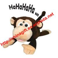 Chuckle Buddies - Rolling Laughing Motion-activated Monkey