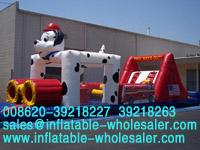 dotted dog inflatable obstacles
