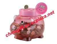 Digital Coin-Counting Piggy Bank