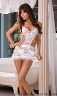 White lace short slirt