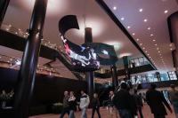 Waves LED video sculpture with DesignLED DigiFLEX Twist-Flex P10mm flexible LED Screen Tiles