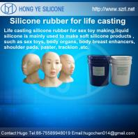 Life casting silicone rubber for sex toy making