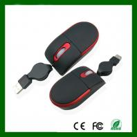 3D Optical  Retractable  Mouse With 0.8M WiredCable