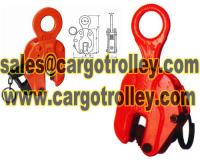 Vertical steel plate lifting clamps structure