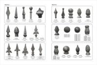 wrought iron spears points