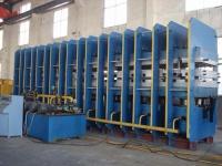 Platen press line