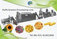 Puffs Equipment---chocolate filling snack food machinery