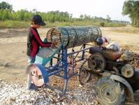Cassava Slicing and Peeling Machine