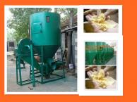 combined animal feed grinder and mixer