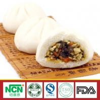 frozen steamed stuffed bun with carrot and fingus