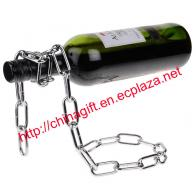 Gravity Defying Chain Wine Bottle Holder