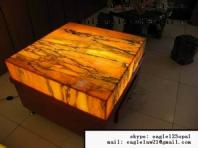 Translucent tea table translucent granite table