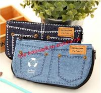 Jean Style Pen Pencil Cosmetic Storage Pouch Bag Case