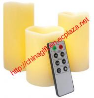 Remote Control Wax Candle Set (3 pack)