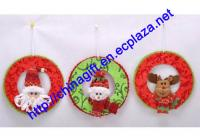 7 Inch Christmas Hanging Ring (Snowman,Deer and Santa Claus)