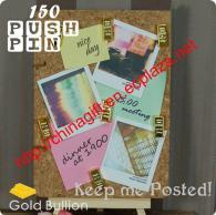 Gold Bullion Design Push Pin