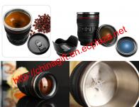 Self-Stirring Camera Lens Coffee Cup