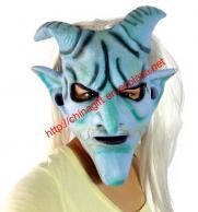 Goat Horn Long Hair Halloween Masquerade Facial Mask