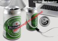 MP3 Player Speaker FM Radio MicroSD USB Soft drink & Beer can Design