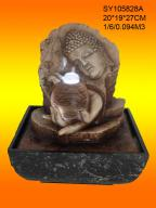 Resin buddha water fountains
