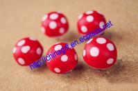5 pcs Mushroom Push Pins - Drawing pin - Thumbtack