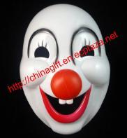 Plastic Cartoon Clown Mask