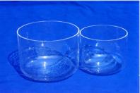 clear crystal singing bowls
