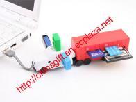 USB Truck Multi-Card Reader Hub Combo