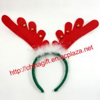 Christmas Feathers Bell Antlers Head Hoops