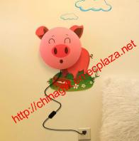 Pig Wallpaper Wall lamp