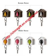 Plastic Little Bird House Whistle Finder Key Chains