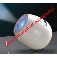 Vibration Speaker with TF Card and 256 Colors Living Light
