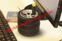 Car tyre/car tire shape pen holder