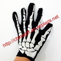 Pair of Terrifying Skeleton Pattern Gloves