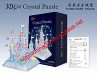 3D Crystal Puzzle Flash Music Castle