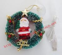 Usb christmas wreath with Santa Claus