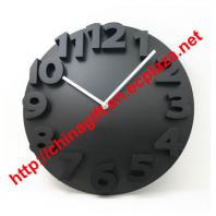 3D round lock wall clock