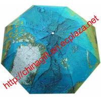 Map Umbrella / Auto Three folding umbrella / parasol