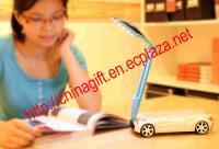 USB Rechargeable Racing Car Shaped 17-LED Folding Desktop Lamp