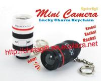 Mini camera len key chains with sound & light
