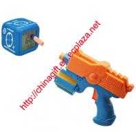 Gun bullets shooting alarm clock