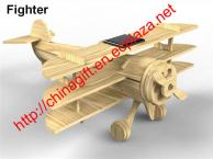DIY Solar Wooden Airplane