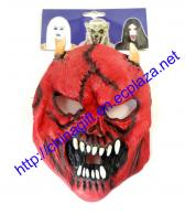 Halloween Ghost Face Pattern Masquerade Latex Mask