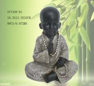 Resin sitting monk statues