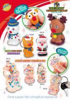 Christmas eye pop out keychain & soft jelly keychain