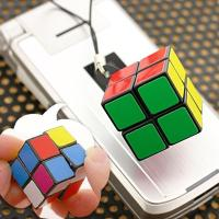 2 x 2 Puzzle Color Cube Cell Phone Strap