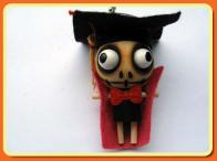 Professor Of The Forest Wooden Doll Cell Phone Charm