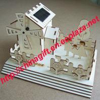 DIY Plywood Solar Windmill House