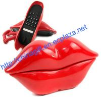 Sex Hot Pink Kiss Lip Home Desk Cord Phone Telephone
